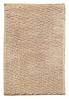 Коврик для ванной микрофибра 40х60см (В рулоне), шенилл бежевый  Fresh Code