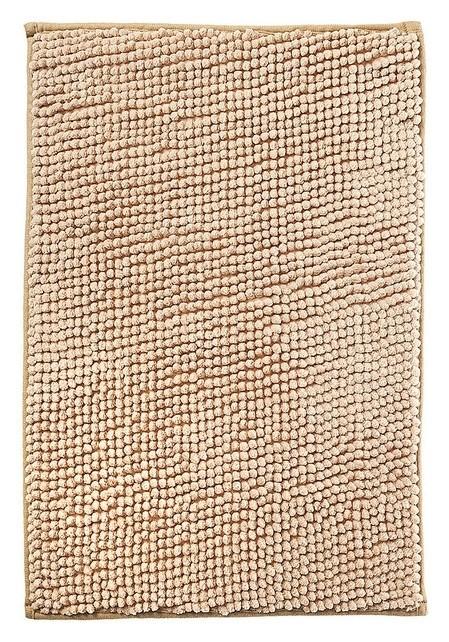 Коврик для ванной микрофибра 40х60см (В рулоне), шенилл бежевый  NNB