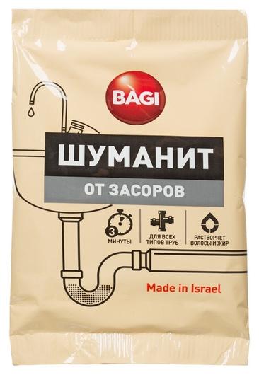 Средство для прочистки труб Bagi шуманит от засоров, 70 гр.  Bagi