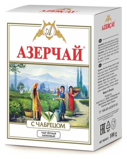 Чай азерчай букет черный с чабрецом 100г 234745/203974  Азерчай