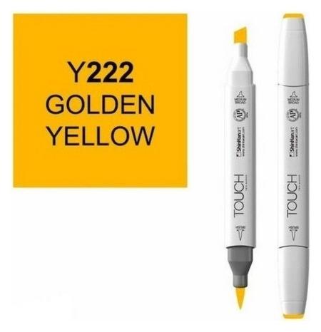 Маркер Touchbrushдвухстороннийцв.222желтый золотой, 1210222  Touch