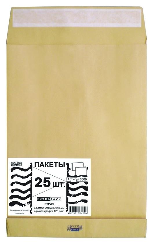 Пакет крафт B4стрип Extrapack250х353х40 120г 25шт/уп/6569 Экстрапак