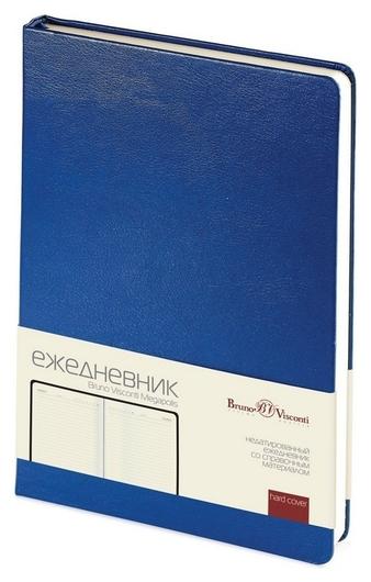 Ежедневник недатированный синий,а5,145х215мм,320 стр,br.v.megapolis  Bruno Visconti