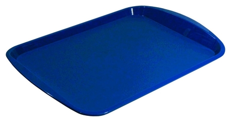 Поднос прямоугольный 470х330 мм синий, ПП  Polar