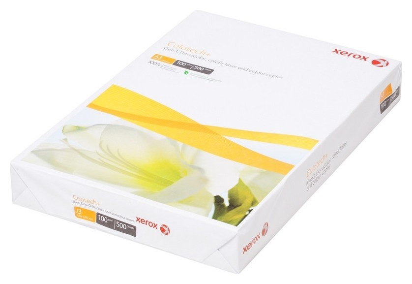 Бумага для цв.лазер.печ. Xerox Colotech Plus (А3,100г,170%cie) пачка500л.  Xerox