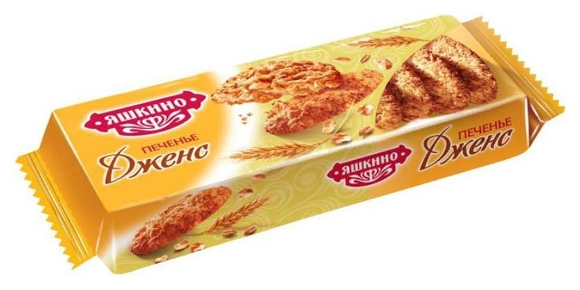 Печенье сдобное дженс 180г мп150 Яшкино