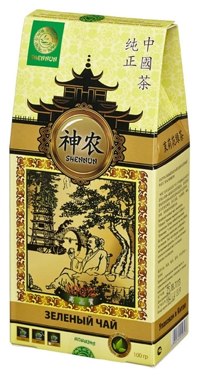 Чай Shennun Мо Ли Мао Фен зеленый с жасмин, листовой 100 г. 16047  Shennun