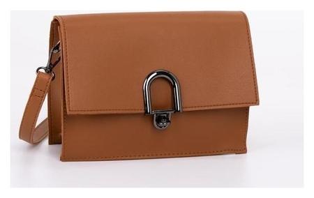 Сумка женская, отдел на клапане, наружный карман, длинный ремень, цвет коричневый NNB