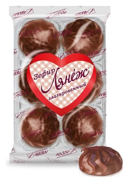 Зефир лянеж в шоколаде ванильный 360г  Лянеж