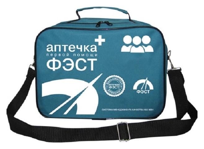 Аптечка первой помощи коллективная фэст (До 100 человек) (сумка) № 3.2  Фэст