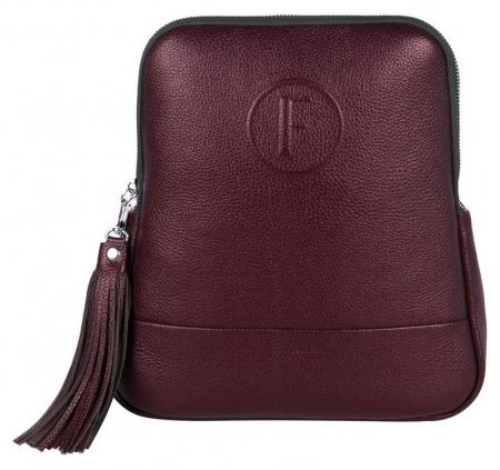 Рюкзак женский нат.кожа S.141/1(F).bk.бордовый  Fabula