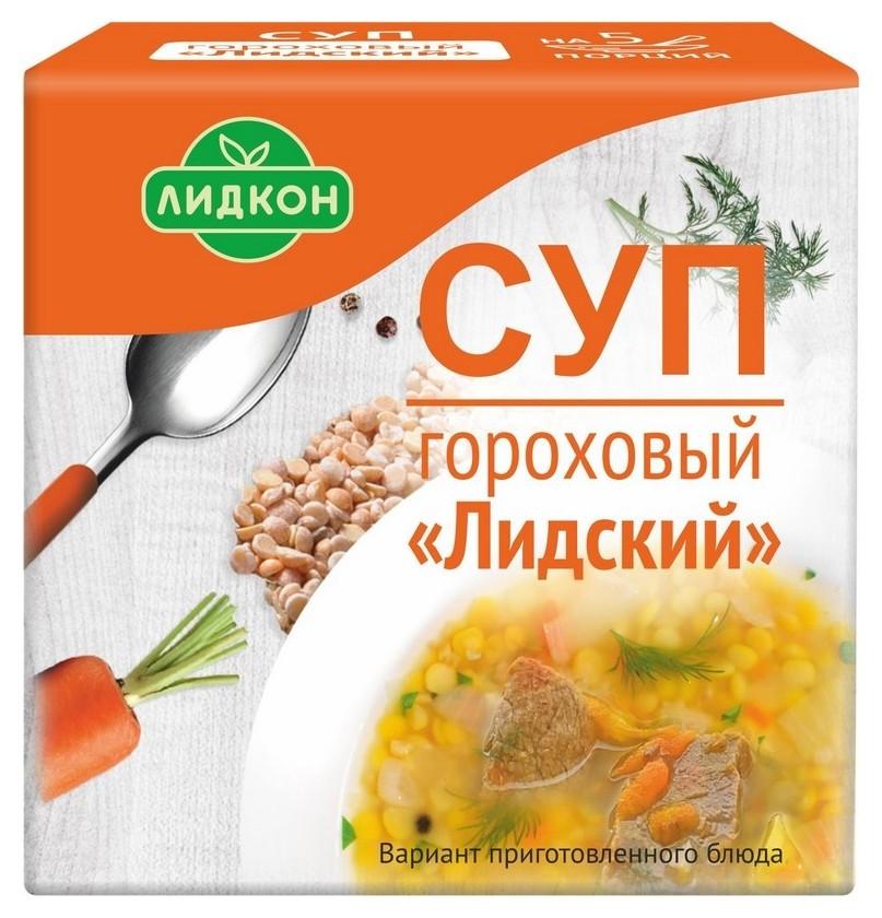 Суп лидкон гороховый лидский брикет, 200гр  Лидкон