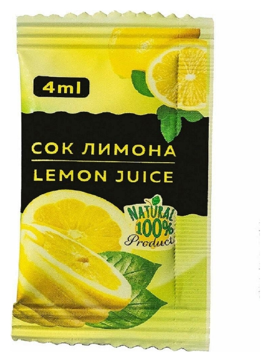 Приправа лимонный сок порционный фабрикант, 100пакx4мл  Фабрикант