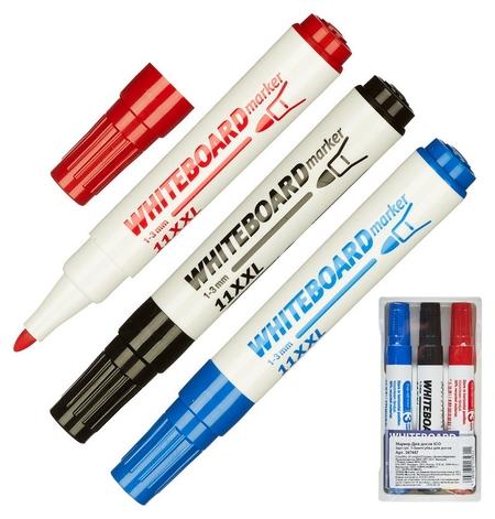 Набор маркеров Для досок ICO 3шт./уп. 1-3 мм + губка для досок  ICO
