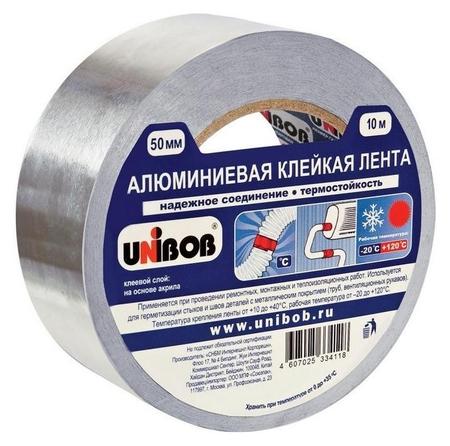 Клейкая лента алюминиевая 50 мм х 10 м  Unibob