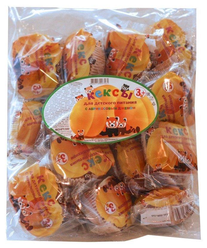 Кекс махариши для детского питания тортин с абрикосовым джемом, 500г  Махариши