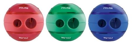Точилка Milan шар с контейнером, 2 отверстия, пластик, цвет в ассорт.  Milan