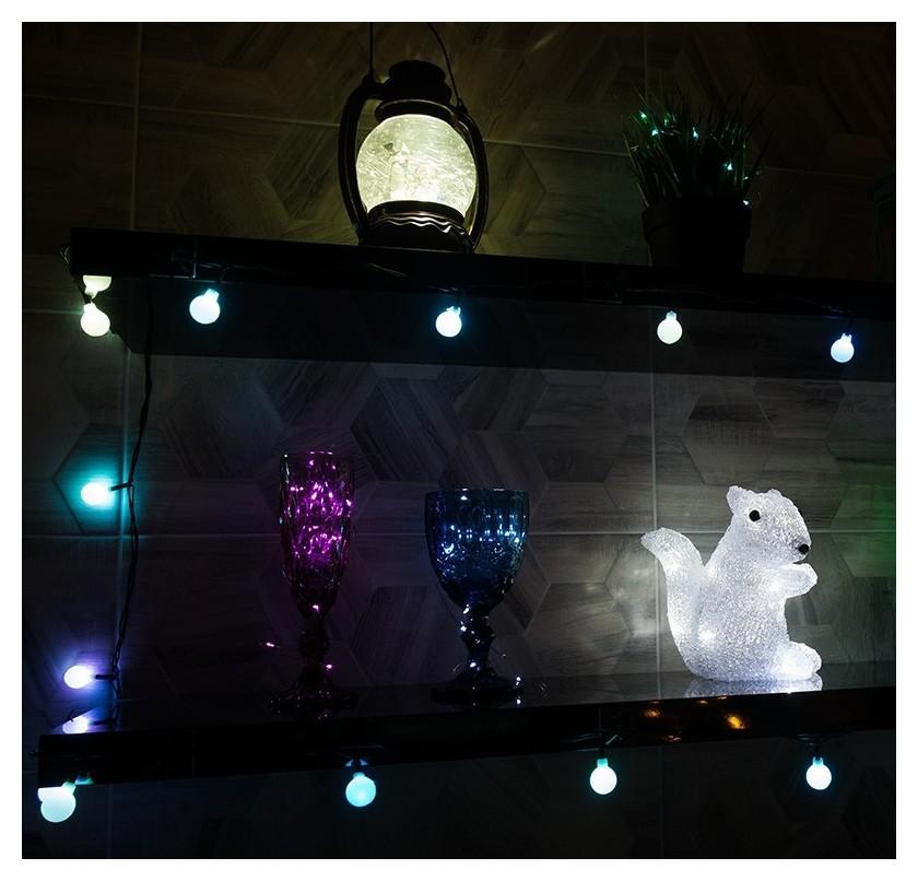 Гирлянда светодиодная цветные шарики 20 LED мультиколор 2,8 метра 303-060  Neon-Night
