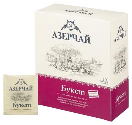 Чай азерчай Premium Collection Buket черн.байх с кон., 100пакx1,6гр 414122  Азерчай
