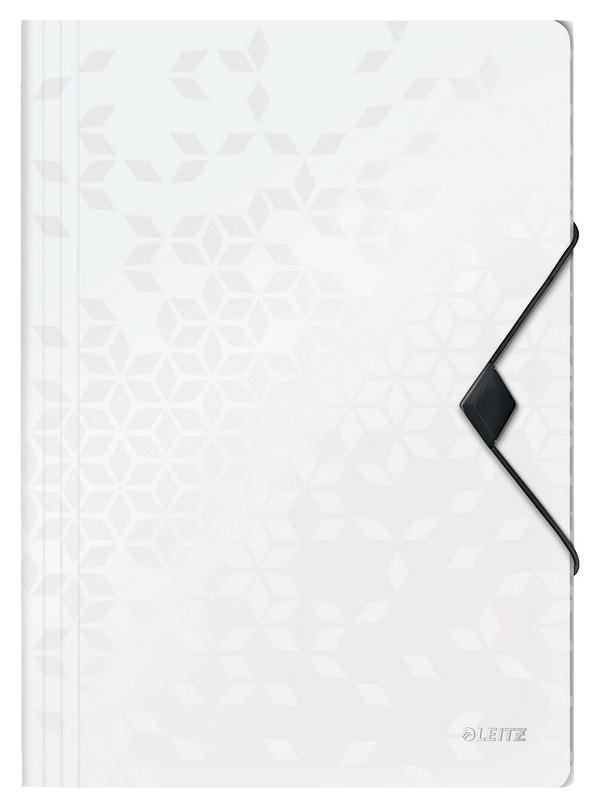 Папка на резинках Leitz Wow, белый45990001  Leitz