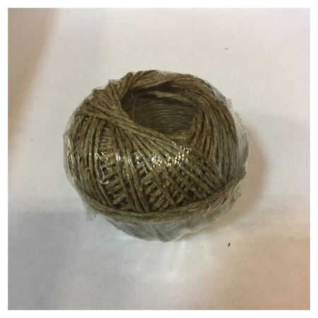 Шпагат льняной полированный 1250 текс д.1,4мм, 50м евробобна  NNB