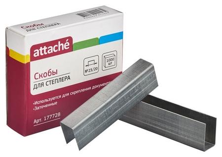 Скобы для степлера N23/20 Attache оцинкованные (160-180 лист) 1000 шт в уп. Attache