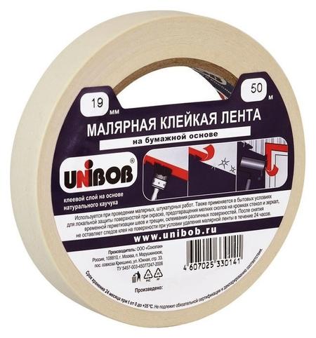 Клейкая лента малярная Unibob 19мм х 50м  Unibob