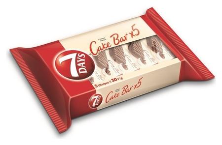 Пирожные 7days кейк бар какао, 5шт х 30г  7 DAYS