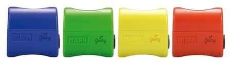 Точилка Milan Juicy с конт. и заглушкой, 1 отв., пластик, цвет в ассорт.  Milan