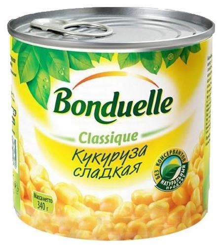 Консервация кукуруза бондюэль сладкая, 340г ж/б ключ Bonduelle