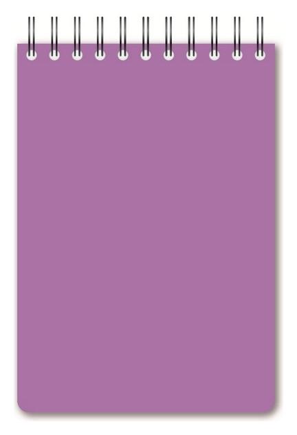 Блокнот а6,60л,кл,спир,пласт.обл,тонир.бл. Attache Bright Colours сиреневый  Attache