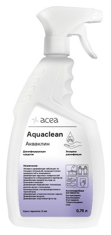 Дезинфицирующий спрей акваклин 0,75 л, триггер  Acea