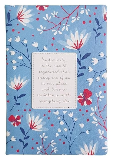 Ежедневник недатированный синий, А5, 160л., Romantic Az1082/dark-blue  InFolio