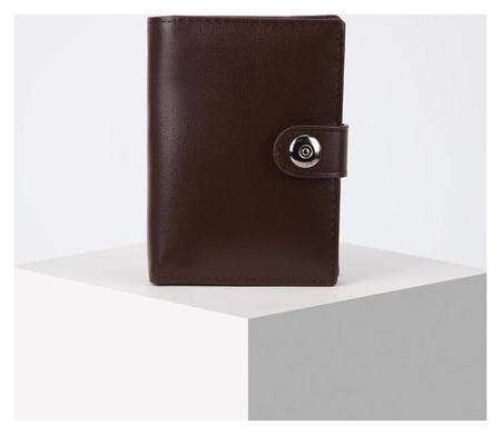 Обложка для автодокументов и паспорта, отдел для купюр, цвет коричневый  NNB