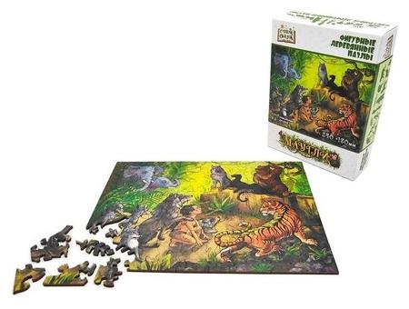 Фигурный деревянный пазл «Маугли» серия «страна сказок» Нескучные игры
