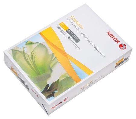 Бумага для цв.лазер.печ. Xerox Colotech Plus (А4,250г,170%cie) пачка250л.  Xerox