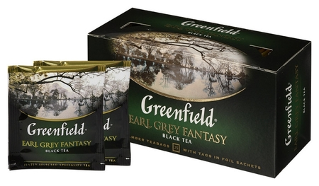 Чай Greenfield Earl Grey Fantasy черный фольгир.25пак/уп 0427-15  Greenfield