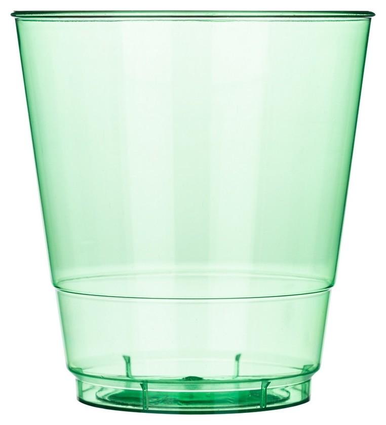 Стакан одноразовый 200мл кристалл зелен. комус ПС 50шт/уп  Комус