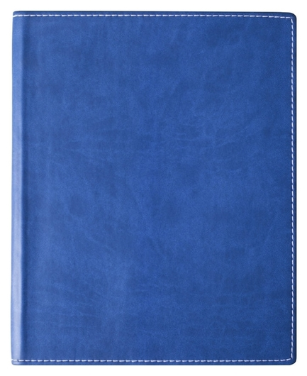 Бизнес-тетрадь Attache клэр А5, 120л, клетка,кожзам, синяя 11.02  Attache