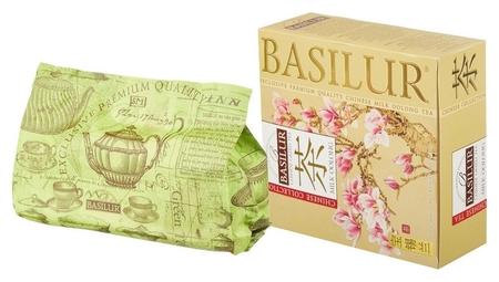 Чай Basilur китайский чай молочный улун, зеленый, 100 пакетиков  Basilur