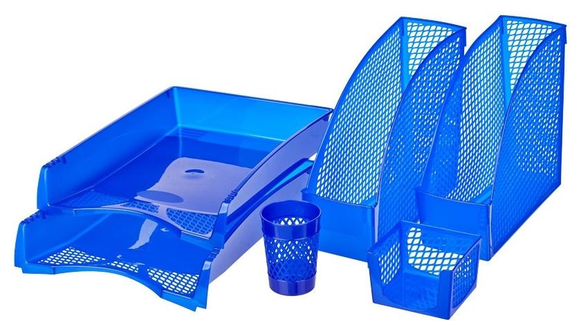 Набор настольный пластиковый Attache эконом синий  Attache