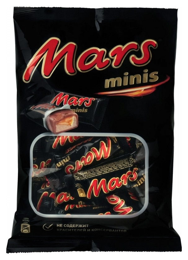 Шоколадный батончик Mars мини 182г  Mars
