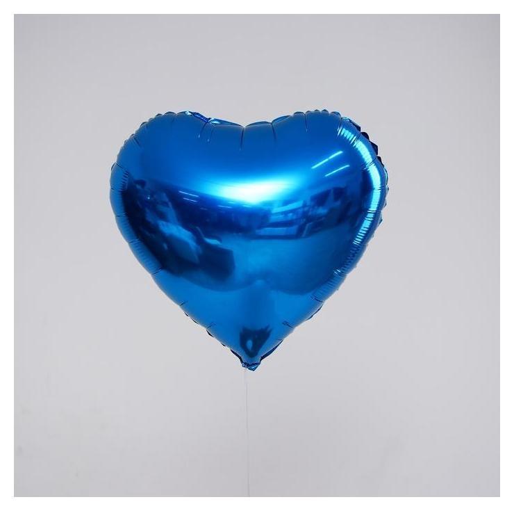 """Шар фольгированный сердце 18"""" синие"""