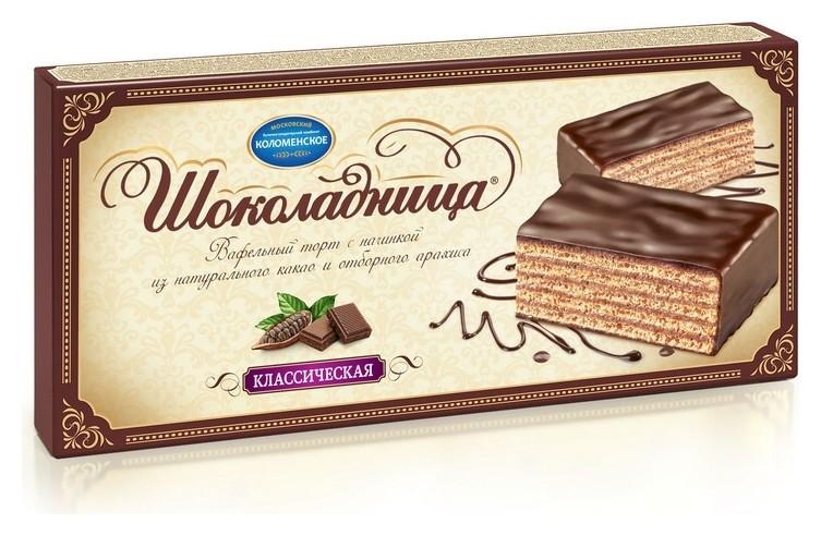 Торт шоколадница вафельный классическая, 240 г Коломенское