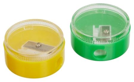 Точилка для карандашей 401027, с контейнером, цв. 2 шт.в уп.  NNB