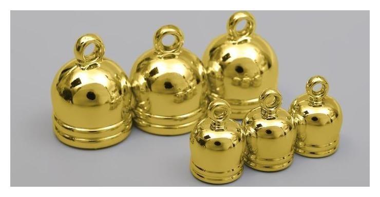 Концевики для кистей, D = 10/16 мм, 6 шт, цвет золотой  Prym