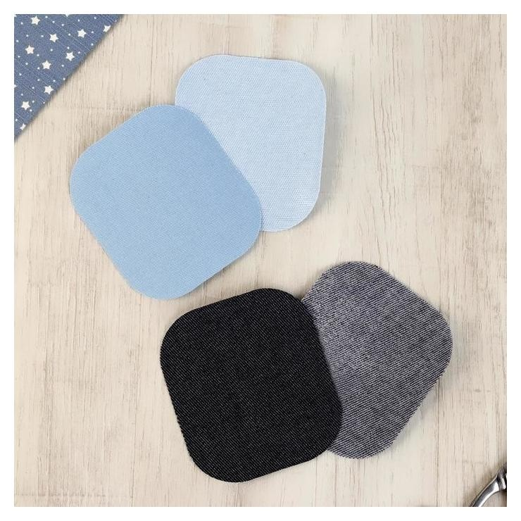Заплатка термоклеевая 9*8см голубой темно-синий  Prym