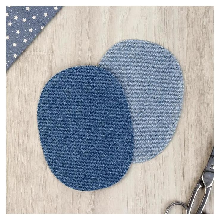 Заплатка термоклеевая джинсовая 10*14см (Набор 2 шт цена за набор) темно-синий  Prym