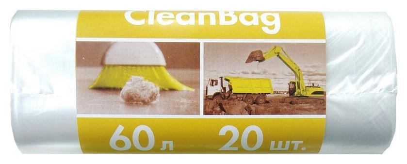 Мешки для мусора ПВД 60л 10мкм 20шт/рул прозрачные 56x68см  NNB