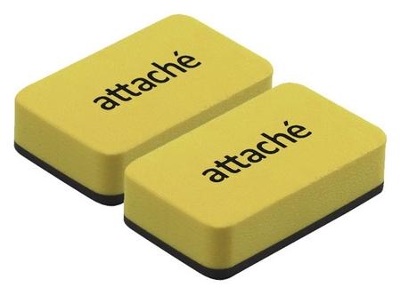 Губка-стиратель для маркерных досок Attache Economy 7x4x1.8cм, 2шт/уп  Attache